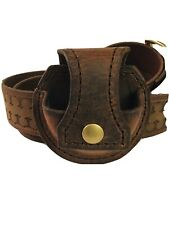 Leather Snuff Dip Chew Carrier Pouch Holder Handmade & Stitched 9-10oz Buffalo