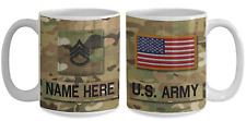 US Army Personalized Mug - SSG (E6) US Army Gift for Dad/Mom/Son/Daughter