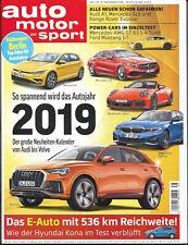 AMS Auto Motor & Sport 25/2018 Autojahr 2019 Hyundai Kona E-Reichweite VW Porsch