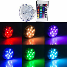 LED Multi-color Submersible RGB Wedding Party Base Light with Remote Control