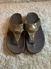 Brown And Gold Fitflops - UK Size 4
