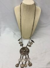 Beautiful Antique Vintage Chinese Silver Fish Abacus Pendant Necklace