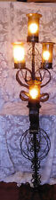 SPANISH REVIVAL Wrought Iron 5 Light Floor Standing Lamp ~ Hand Wrought~ FREES&H