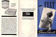 Shower Bath Cabinets Vintage Illustrated Brochure Fiat Metal Manufacturing Co