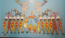 """The Simpsons Limited Edition""""Viva Simpson's Circus"""" Animation Serigraph Cel 2004"""
