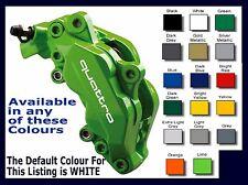 AUDI QUATTRO Premium Brake Caliper Decals Stickers x 6
