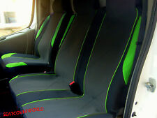 VAUXHALL VIVARO - GREEN MOTORSPORT VAN SEAT COVERS - SINGLE + DOUBLE