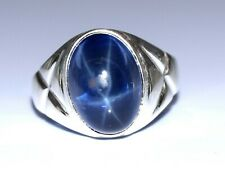 925 Silver Natural 10.87 Ct. Star Blue Sapphire Ring Ideal Gift Item for Someone
