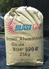 New Brown Aluminium Oxide 320# ultrafine abrasive grit for sandblasting 25kg bag