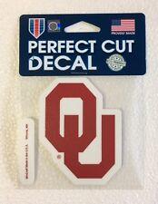 "Oklahoma Sooners 4"" x 4"" Logo Truck Car Auto Window Die Cut Decal New Team Color"