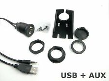 USB Klinke 3,5mm Einbau Buchse Adapter Kabel Anschluss AUX IN Steckdose KFZ PKW
