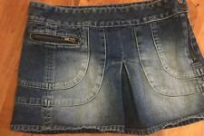 Ladies Size 8 Short Mini Denim Skirt From Moto Topshop