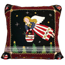 Christmas Artisan Handmade Pillow - NATIONAL FLAG ANGEL - NW-P-540002