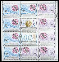 Albanien Kleinbogen MiNr. 2495-96 postfrisch MNH Cept (P1983