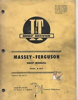 MF-19 I&T Service Shop Manual for Massey Ferguson Model MF65 Tractors