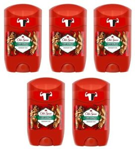 5x Old Spice Bearglove Deodorant Solid Stick For Men 5x50ml