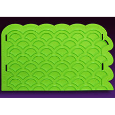 Scalloped-Lattice Onlay Silicone Fondant Stencil by Marvelous Molds