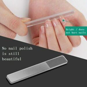Professional Nano Polished Glass Nail File Transparent Shiner Grinding T4X Prof