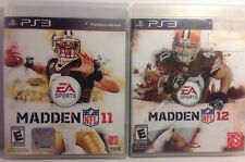 Madden NFL 2012 And 2011 Playstation 3. Both CD's Are In New Condition.
