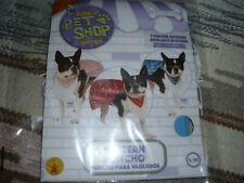 Rubie's Pet Shop Boutique Blue Western Dog Poncho • Size S/M