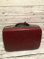 Vintage Samsonite Silhouette Luggage Case Maroon Suitcase