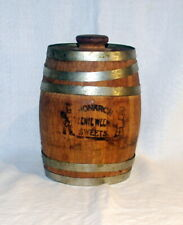 VINTAGE MONARCH WOOD WOODEN PICKLE BARREL TEENIE WEENIE SWEETS CHICAGO, ILL.