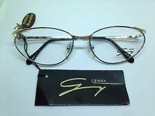 GENNY 531 occhiali da vista donna vintage metallo oro argento woman glasses