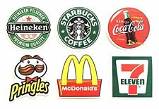 Starbucks 7-11 Coke Mcdonalds Logo Skateboard Laptop Luggage Decal Sticker Set