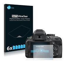 6x Displayschutzfolie für Nikon D5200 Schutzfolie Klar Folie Displayfolie