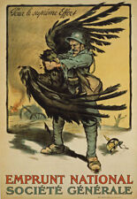 More details for wa80 vintage wwi french war loan german imperial eagle poster ww1 a1 a2 a3