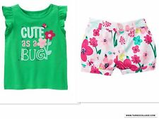 NEW Gymboree Island Hopper Cute as a Bug Tee & Floral Bubble Shorts  Size 3T