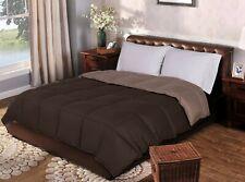 "Superior Reversible Down Alternative Comforter 88x90""100% wrinkle resistant Bru"