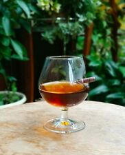 Brandy Cognac Snifter WARMER Glass & Stand Gift Tumbler Drinking Bar Bullet