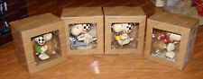 Snoopy Boy Scout, Flying Ace, Coffee & Donut, Typing (Peanuts Set by Jim Shore)
