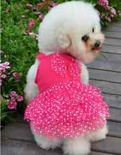 Lace Princess Design Puppy Pet Dog Poodle Chihuahua Wedding Dress Size XS S M L