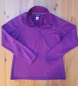 Patagonia Women's Purple 1/2 Zip Up Pullover Sweater Lightweight Jacket Medium M