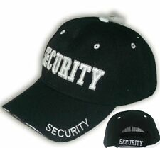 50 Pack Security Guard Hat Baseball Ball Cap Black Embroidered 3D Wholesale Lot