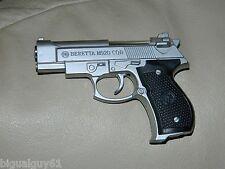Silver Beretta M92G CQB Shaped Novelty Pistol Gun Jet Torch Lighter USA Stocked