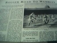 ephemera article 1950 rugby league cup the road to wembley halifax