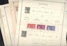BASUTOLAND, Mint Stamps mounted on Scott International pages