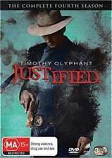 JUSTIFIED (COMPLETE SEASON 4 DVD SET - SEALED + FREE POST)