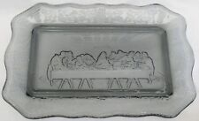 Vtg Indiana Glass TRAY Bread Relish Plate LAST SUPPER Dish