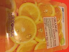 2 X 3D FoodAHolic Superfood  Orange Natural Essence Mask face mask sheet