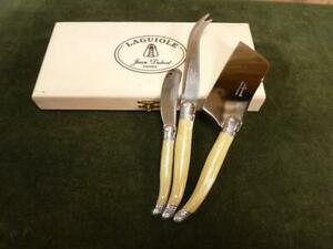 Nice Laguiole hard and soft Cheese and butter knife set Boxed