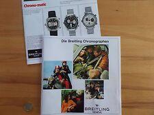 Breitling 1969 Katalog Prospekt booklet Navitimer Cosmonaute Chronomat reprint