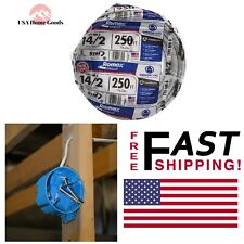 White Solid Romex SIMpull CU NM-B W/G Wire 250 ft 14/2 Electrical Copper Cable