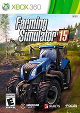 XBOX 360 FARMING SIMULATOR 15 BRAND NEW FREE 1ST CLASS SHIPPING ORIGNAL COVER