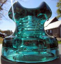 CD 272 No Name Glass Insulator - Green Aqua - Mint Condition