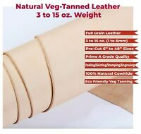 WD-47 Veg Tan Full Grain Leather 3-15oz (1-6mm) Tooling Leather Cowhide