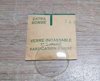 Verre de montre suisse bombé plexi diamètre 346 Watch crystal vintage *NOS*
